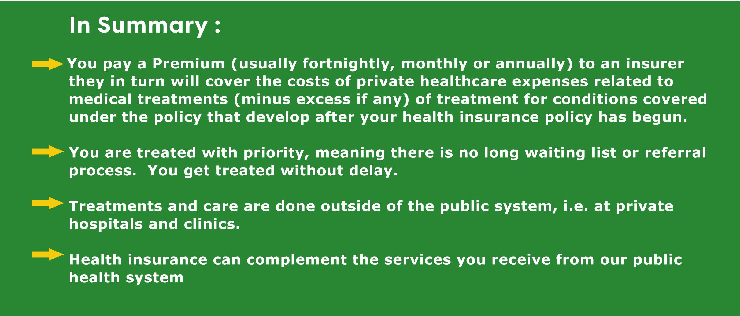 health insurance summary